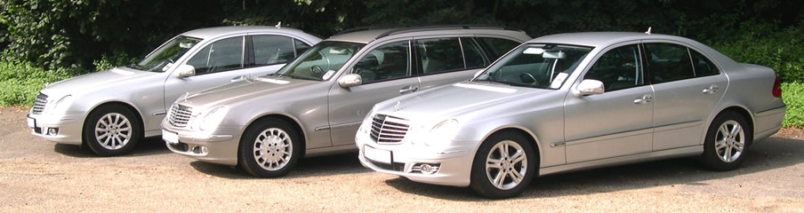 Travel in a chauffeur-driven Mercedes