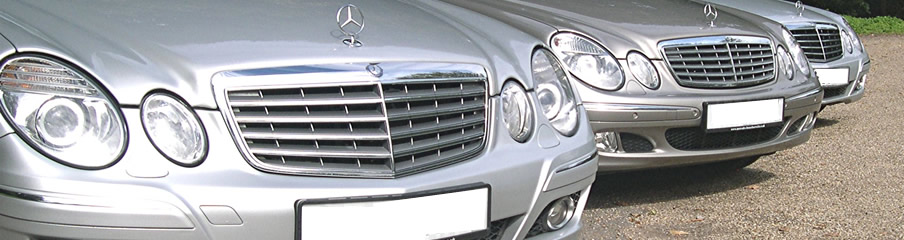 Closeup of our Mercedes